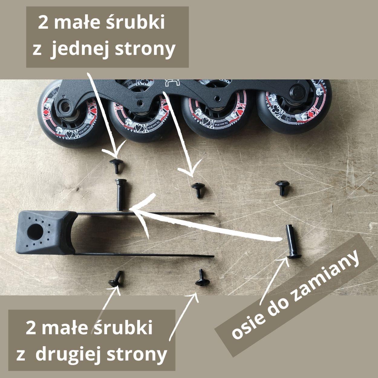 Jak odkręcić hamulec wrolkach